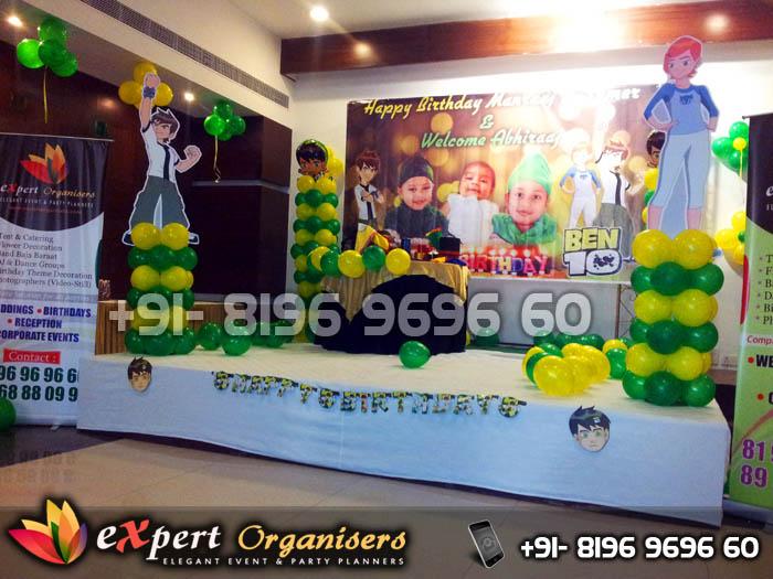 Expert Birthday Planners Chandigarh Ben 10 theme Birthday Party