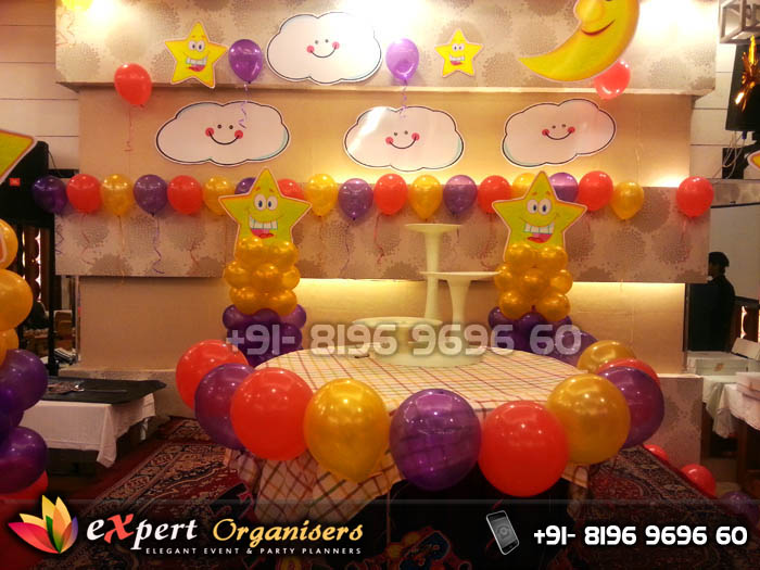 Birthday Cake Table Decoration At Home Kustura for