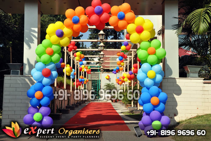 Expert balloon decorators chandigarh best birthday for Balloon decoration for kids birthday party