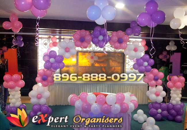 Expert birthday planners chandigarh best birthday for Balloon decoration for 1st birthday party
